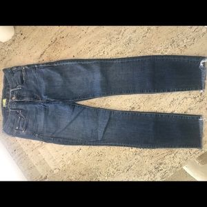 Mother 'Looker Ankle Fray' denim- worn once!